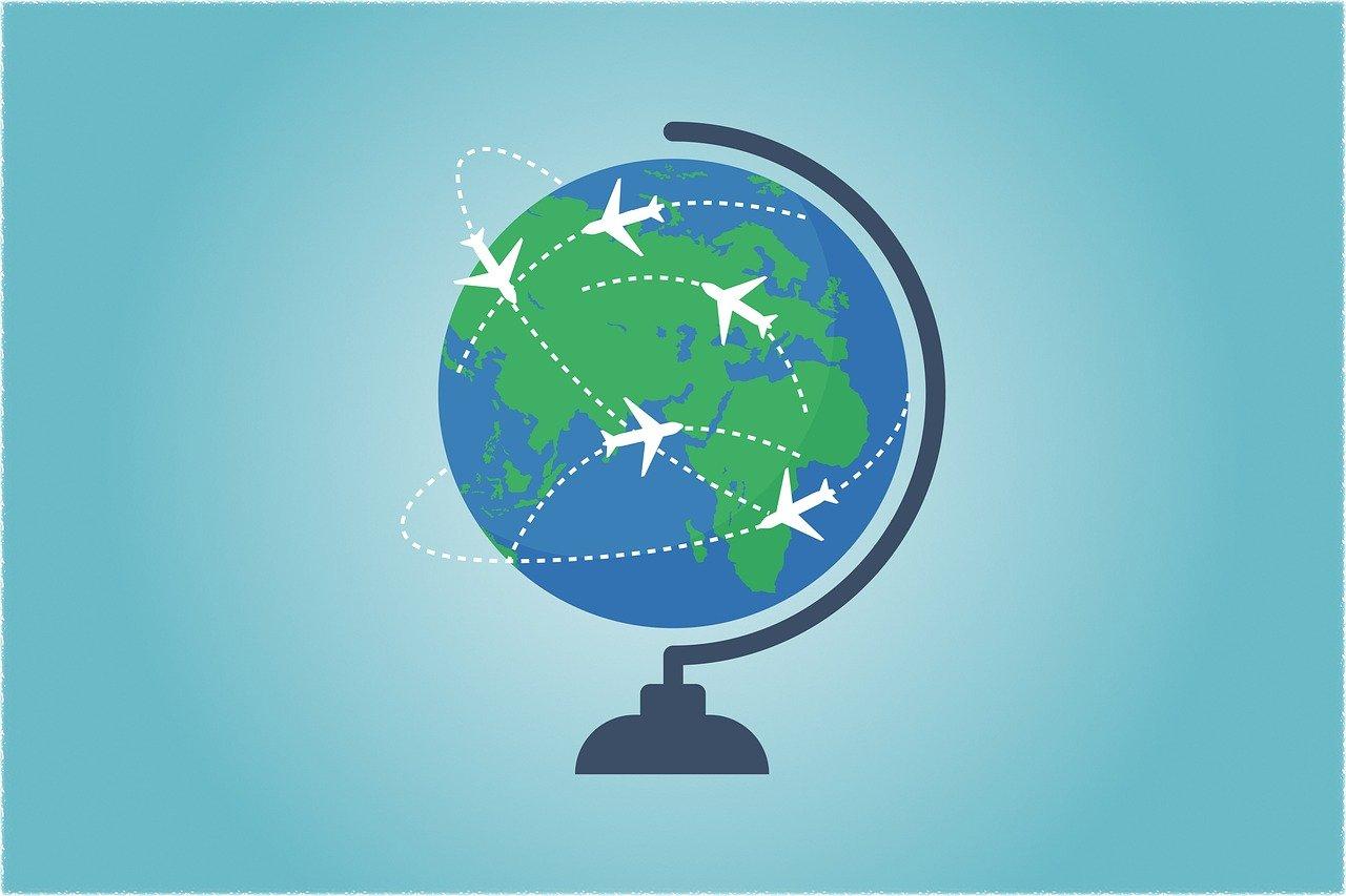 globe, world, map