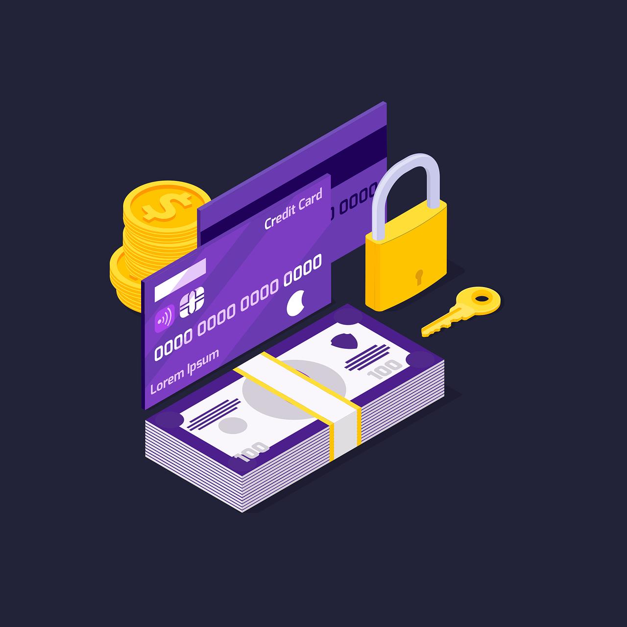 lock, security, credit card